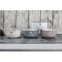 China Promotional Round Ceramic Salad Bowl Personalized Breakfast Noodle Bowl Set Of 4 on sale