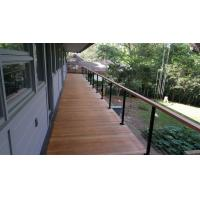 Building stainless steel balcony wire / cable railing for staircase design Manufactures