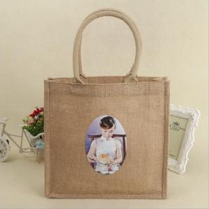 customized printing heavy-duty jute gift bags medium capacity promotional jute bags Manufactures