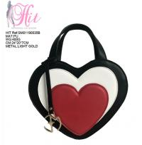 China Women handbag tote bag/crossbody bag with heart-shaped fashion style on sale