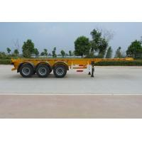 40 Feet Container Carrying Flat Bed Semi Trailer With 28ton JOST Landing Leg Manufactures