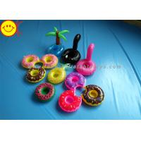China Drink Holders Inflatable Water Floats Animal / Fruit Styles Floating Pool Inflatable wholesale