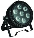 Professional Stage LED Par Can Lights , 7pcs 12W RGB LED Flat Par Manufactures