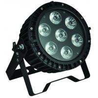 Professional Stage LED Par Can Lights , 7pcs 12W RGB LED Flat Par Manufactures