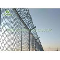 PVC Coated 4.0mm Wire Welded Mesh Fence Waterproof With SHS 60 × 60mm Post