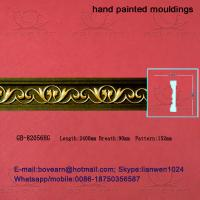 Quality Hand Painted PU Carved Cornices Moulding for sale