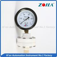 China 75mm 100mm Oil Filled Pressure Gauge With Bottom Connection Plastic Black on sale