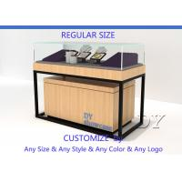 Quality Luxury Veneer Stain Steel Jewellery Shop Counter With Large Storage for sale
