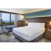 Hotel Room Interior by China Hotel furniture liquidators made Laminated Oak wood Headboard with Upholstered Bedstead Manufactures