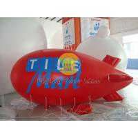 Customized Red PVC Inflatable Helium Zeppelin with Total Digital Printing for Parade Manufactures