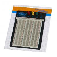 Quality DIY 2390 Points Transparent Breadboard With Blue / Red Contacts for sale