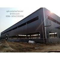 Large Size Steel Structure Warehouse Prefab Steel Warehouse SA 2.5 Shot Blasting Grade Manufactures