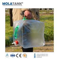 Mola Tank High Quality 5 Gallon 20L Foldable Outdoor Sport PVC Plastic Water Bag Collapsible Plastic Storage Bag Manufactures