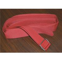 Colored Heavy Duty Webbing Strap , Polyester Sew On Hook And Loop Strap With Stainless Steel Buckle Manufactures