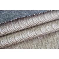 Heavy Classic Wool Upholstery Fabric Herringbone Twill Cloth Alpaca Woolen Fleece Manufactures