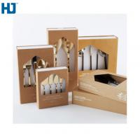 China Brown Tableware Cardboard Packing Boxes Customized Folding With Big Window Hanger on sale