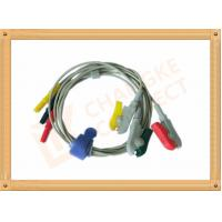 0.6m ECG Patient Cable Lead Wires Copper Conductor Material , Din Style Manufactures