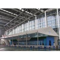 China Double Coated PVC Fabric White Canopy Tent Waterproof 100km/H For Canton Fair on sale