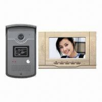 Video intercom system with 7 Inches TFT- LCD Monitor, Handsfree Intercom and Aluminium Alloy Panel Manufactures