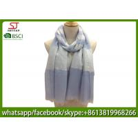China factory supply joint stripe yarn dyed fabric spring summer scarf 80*190cm100% Polyester keep fashion chiffon