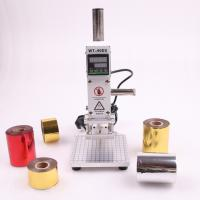 China SWANSOFT hot foil stamping machine slideable workbench Digital leather embossing bronzing tool for wood PVC DIY Initial on sale