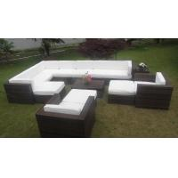 Big Size Sectional Rattan Outdoor Sofa Set Garden Furniture With Comfortable Cushion Manufactures