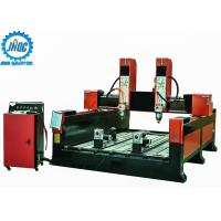 Dual Double Spindles 3D Stone Carving Machine CNC Router Machine With Rotary Manufactures