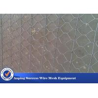Multi Function Rock Baskets Wire Mesh , Rock Gabion Baskets Silver Green Color Manufactures