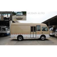 China Hydraulic Brake Transport Minivan Diesel Coaster Vehicle With 65L Fuel Tank on sale