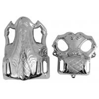 Shining Silver Coffin Parts Africa Style For Wooden / Metal Casket Handle And Decoration Manufactures