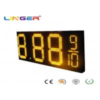 Waterproof RF Controller LED Gas Price Sign with Iron / Aluminum Cabinet Manufactures