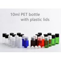 PET PP Small Plastic Bottle Containers , 10ml Round Plastic Bottles With Lids Manufactures