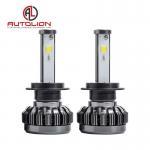 Pure Aluminum LED Car Headlight , h1 h3 h4 h7 H8 H9 h11 LED Headlamp Color Changeable Manufactures
