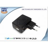 Black AC DC Universal Power Adapter EU Type 90VAC - 264VAC Voltage Manufactures