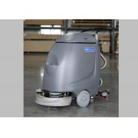 Hand Push 17 Inch Single Brush Compact Floor Scrubber Machine For Slick Floor Manufactures