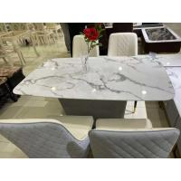 Home Faux White Marble Coffee Table , Artificial Stone Surface Oak Coffee Table Set Manufactures