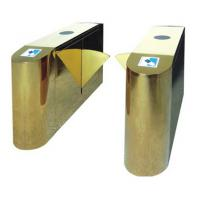 Luxury Gold Flap Gate Turnstile Barrier Security Access Control Highend Star Hotel Offices