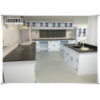 Epoxy Resin Countertop Science Lab Tables , PP Lab Furniture With PP Drawer Manufactures