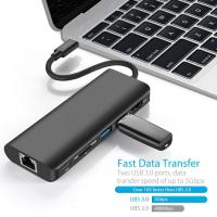 Anker USB 3.0 Hub Type C PD Charging Adapter USB 3.1 Type C to 4K HDMI Rj45 Ethernet SD Card reader for Macbook