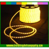 yellow colored rope 110V 2 wire led christmas decaration lights Manufactures