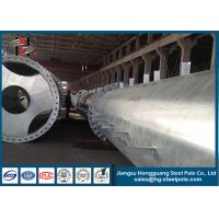 Flange Connection Type Steel Electrical Power Pole Q235 Transmission Line Project Manufactures