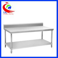 Rolling Stainless Steel Work Table / commercial kitchen prep tables Manufactures