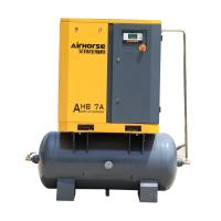 8 Bar Low Noise Industrial Used Screw Type7.5kw10hp Air Compressor Prices with Air Tank Manufactures