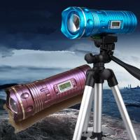 9 Files Yellow&Blue&White 5W Led Rotating Zoom Night Fishing Light Digital Led Display Manufactures