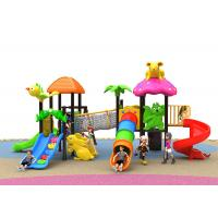China Jungle Adventure Serie Kids Outdoor Plastic Slide With Customized Size on sale
