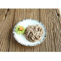 Halal Dry Japanese Buckwheat Soba Noodles Healthy 99% Fat Free Brown Color Manufactures