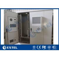 Durable Outdoor Data Cabinet IP65 Three Bay Sandwich Structure Heat Insulation Material Manufactures