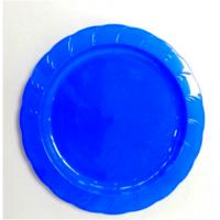 China 7.25 Inch Ps Plate With Rim Custom Hot Sale Edible Dinner Party Candy Color Dishes Easy To Use on sale