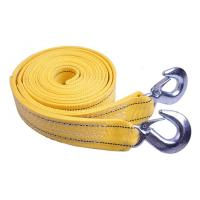 Yellow Polyester / Nylon Heavy Duty Tow Straps With Hooks CE Manufactures