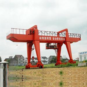 China 20 Ton 30 Ton Adjustable Portable Gantry Crane Large Span Wireless Control on sale